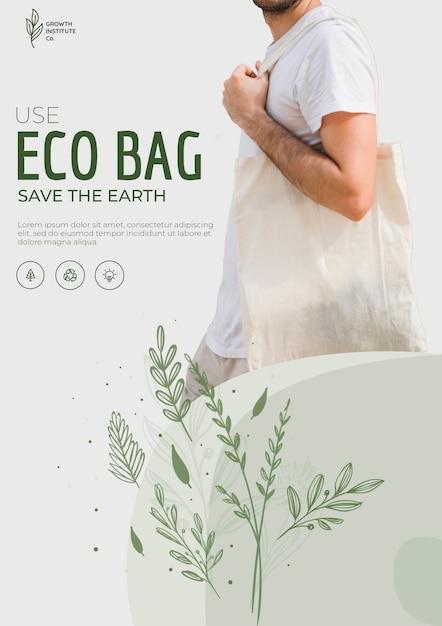 Ekologiczna Torba Recyklingu Szablonu Ulotki środowiska Darmowe Psd
