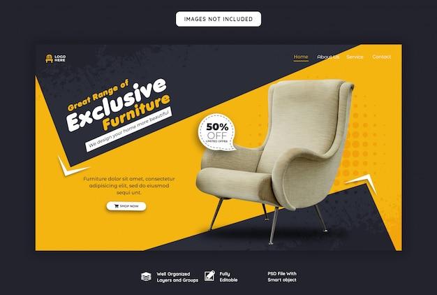 Ekskluzywny Szablon Strony Docelowej Sprzedaży Mebli Premium Psd