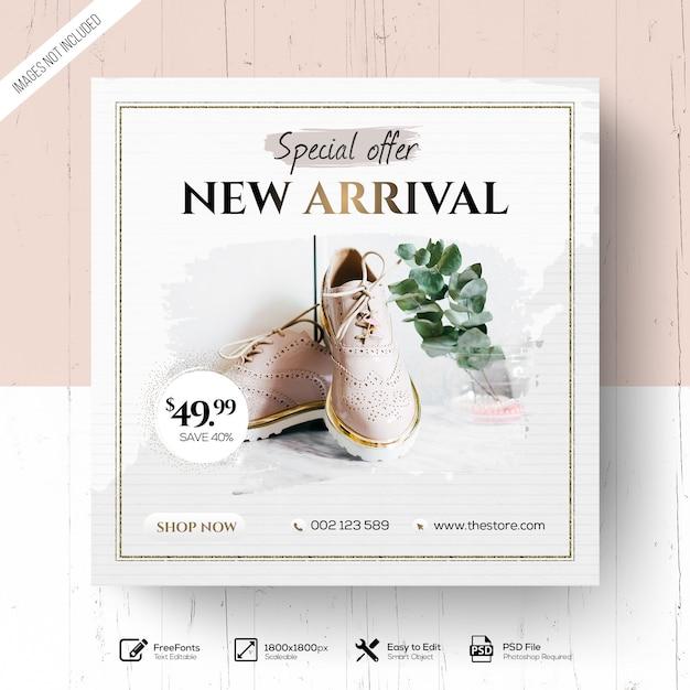 Elegancka moda new arrival promocja Premium Psd