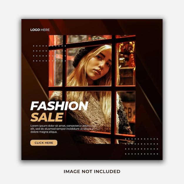 Elegancka, Stylowa Wyprzedaż Modowa Oferta Specjalna Szablon Postu W Mediach Społecznościowych Premium Psd