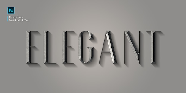Elegancki Efekt Tekstowy Premium Psd
