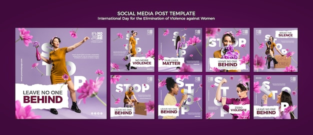 Eliminacja Przemocy Wobec Kobiet W Mediach Społecznościowych Premium Psd