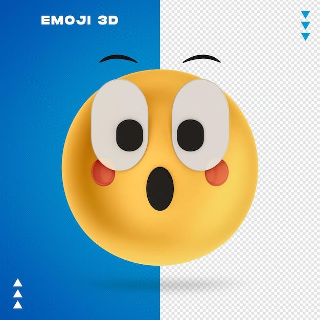 Emoji 3d Renderowania 3d Na Białym Tle Premium Psd