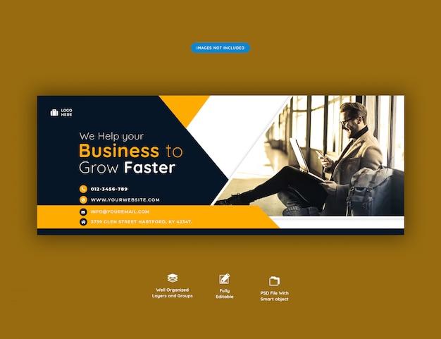 Facebook Szablon Transparent Okładka Promocja Firmy Premium Psd