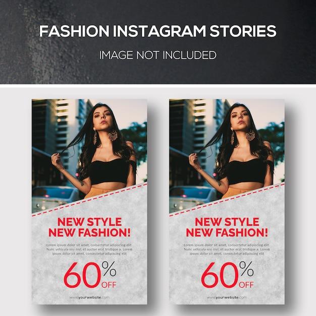 Fashion instagram stories Premium Psd