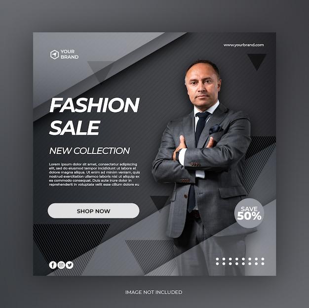 Fashion Sale Square Banner Szablon Mediów Społecznościowych Premium Psd
