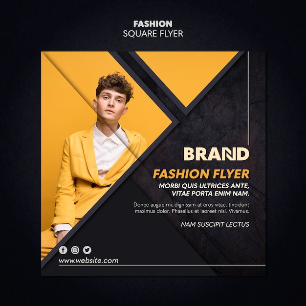 Fashion Square Flyer Style Darmowe Psd