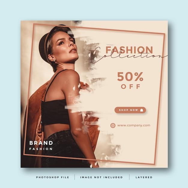 Fashion Układ Promocji W Mediach Społecznościowych Premium Psd