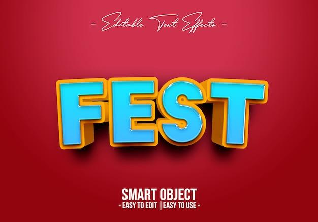 Fest-text-style-effect Premium Psd