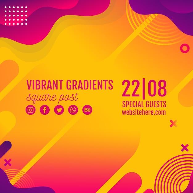 Festiwal muzyki tła żółty szablon Darmowe Psd