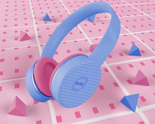 Fioletowe Słuchawki Bezprzewodowe Darmowe Psd