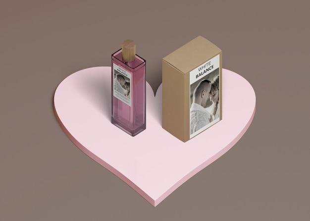 Flakon Perfum Z Pudełkiem W Kształcie Serca Darmowe Psd