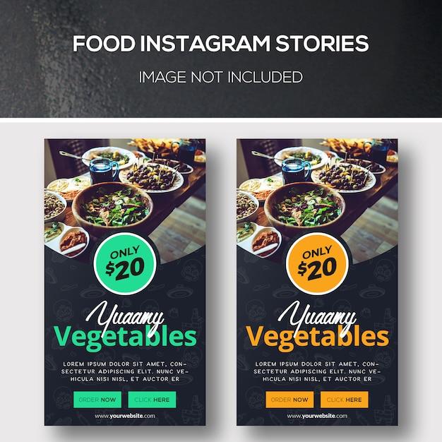 Food Instagram Stories Premium Psd