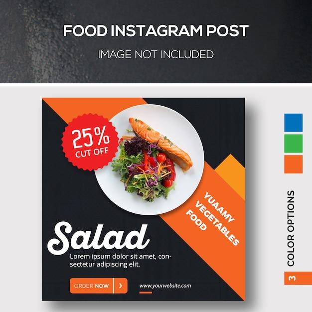 Food Instargam Post Premium Psd