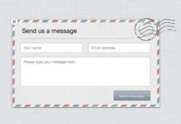 Formularz kontaktowy email materiał psd Darmowe Psd