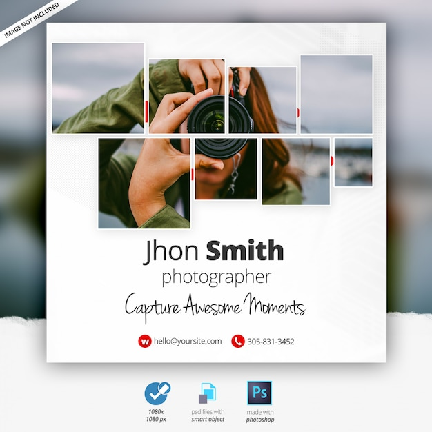 Fotografia Internetowa Baner Reklamowy Premium Psd