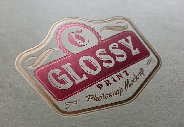 Fotorealistyczne Logo Mockup Premium Psd