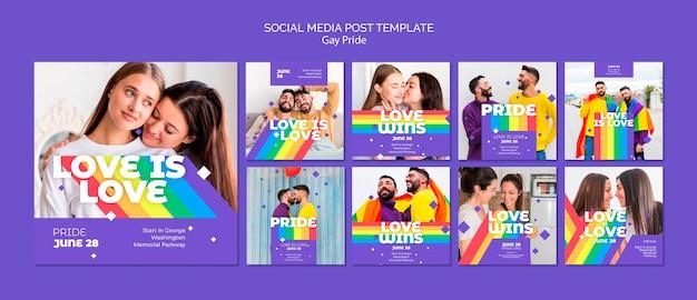 Gay Prinde Koncepcja Szablon Mediów Społecznych Post Darmowe Psd