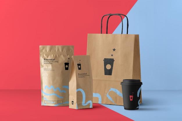 Generator Scen Makiety Produktów Z Kawiarni Premium Psd