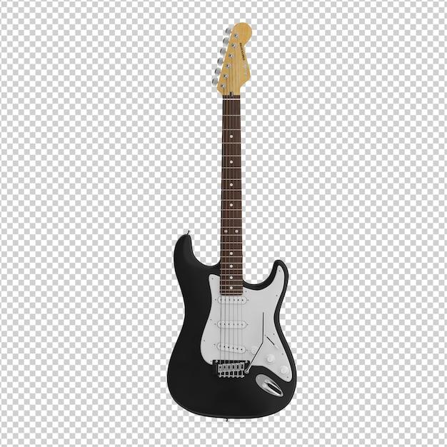 Gitara izometryczna Premium Psd