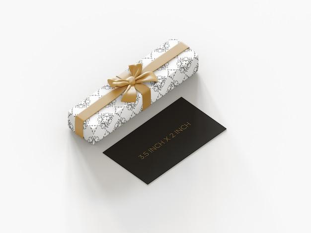 Gotowa Do Użycia Makieta Wizytówki Premium Z Widokiem Na Pudełko Ortograficzne Premium Psd