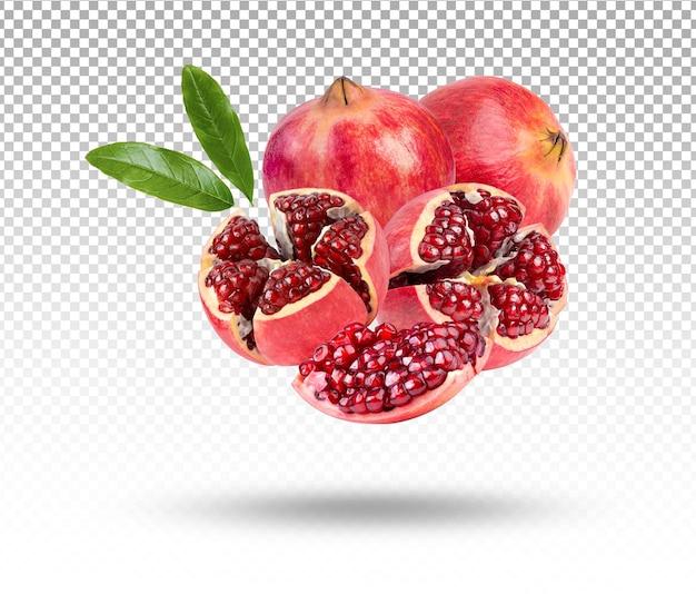 Granat Dojrzałe Słodkie Owoce Na Białym Tle Premium Psd