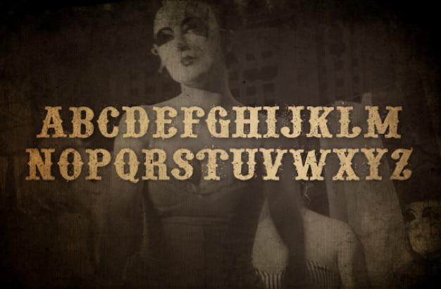 Grunge ozdobny font Darmowe Psd