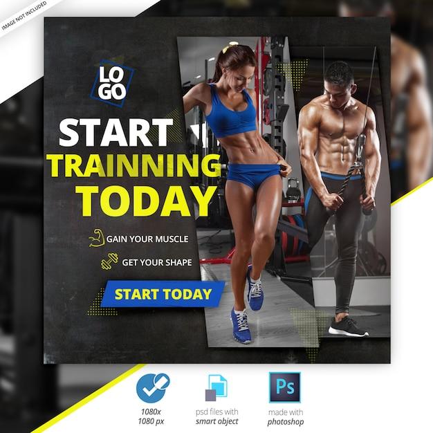 Gym fitness social media banery internetowe Premium Psd