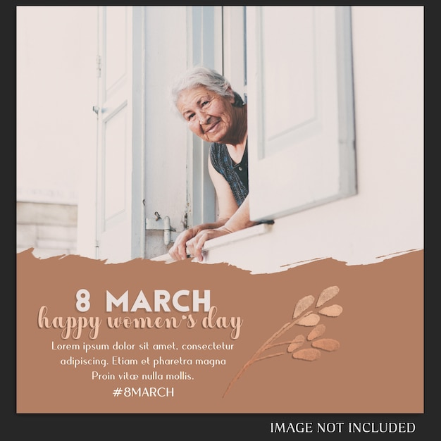 Happy Women's Day I 8 Marca Greeting Instagram Post Template Premium Psd