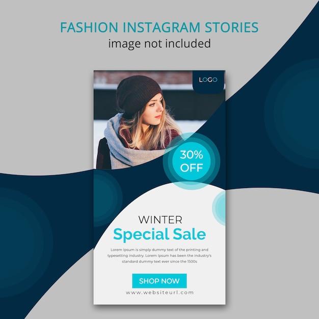 Historia Instagramu Z Zimową Modą Premium Psd