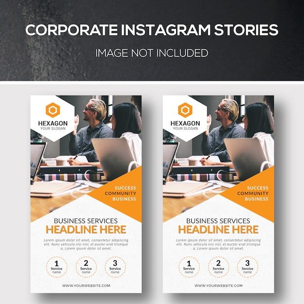 Historie firmowe na instagramie Premium Psd