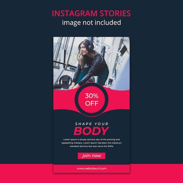 Historie Fitness Na Instagramie Premium Psd