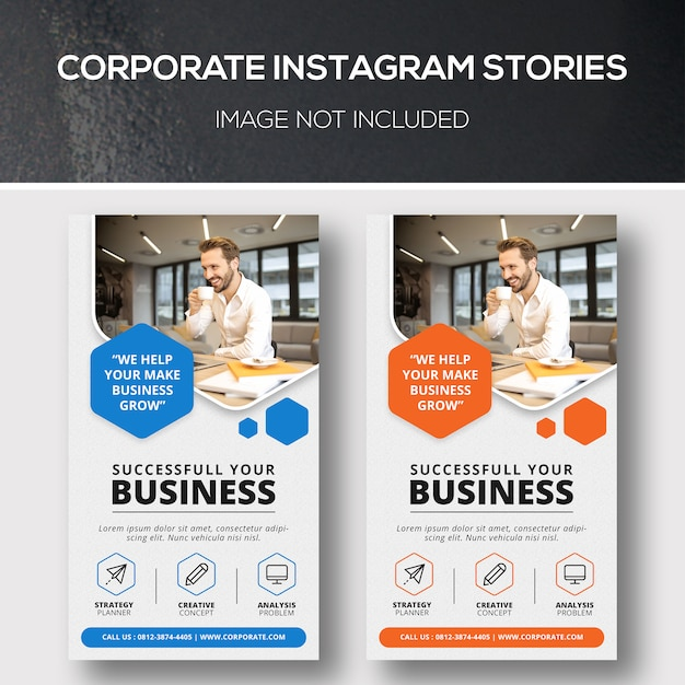Historie Korporacyjne Na Instagramie Premium Psd