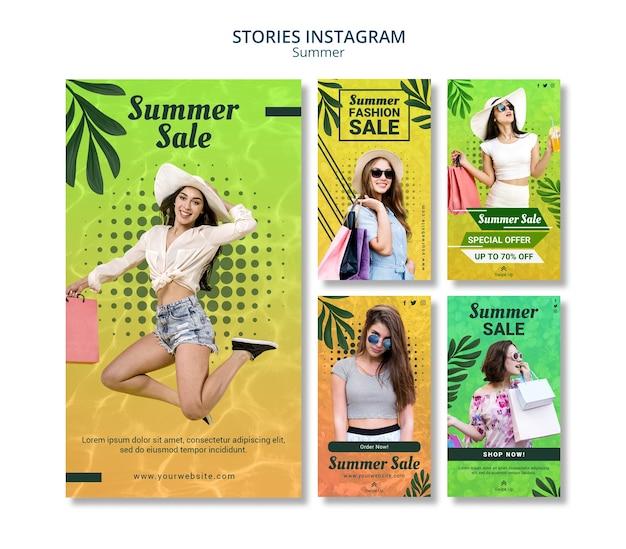 Historie Letnia Wyprzedaż Na Instagramie Darmowe Psd