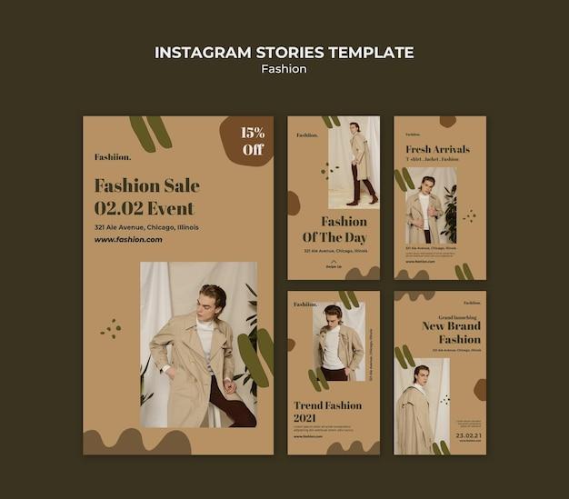 Historie Na Instagramie Koncepcja Mody Premium Psd
