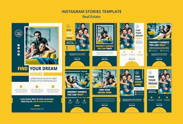 Historie Na Instagramie Koncepcja Nieruchomości Darmowe Psd
