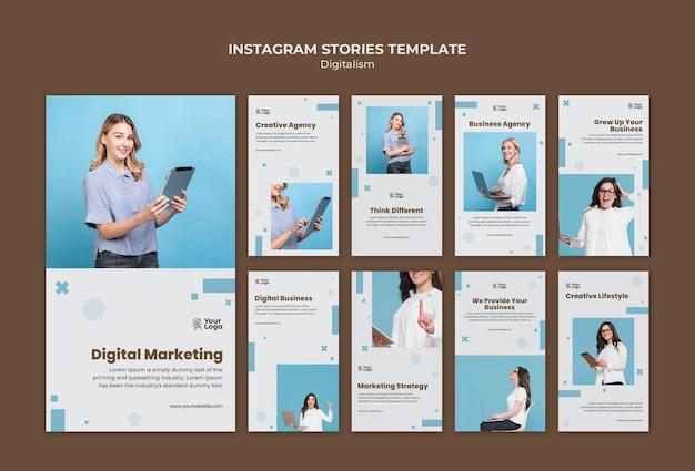 Historie Na Instagramie Z Szablonami Reklam Biznesowych Darmowe Psd