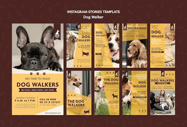 Historie Z Instagrama Dog Walkera Darmowe Psd