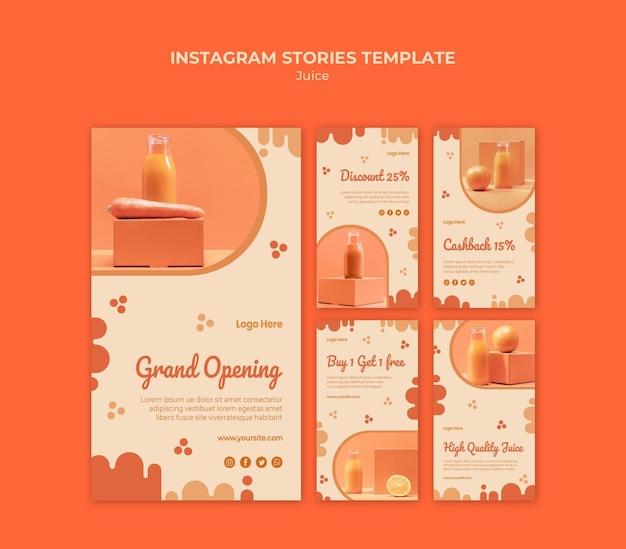 Historie Z Mediów Społecznościowych O Soku Pomarańczowym Darmowe Psd