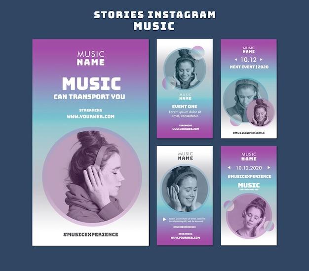 Historie Z Wydarzeń Muzycznych Na Instagramie Premium Psd