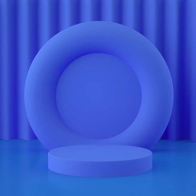 Holograficzna Scena Geometryczna 3d Do Lokowania Produktu Z Tłem I Edytowalnym Kolorem Premium Psd