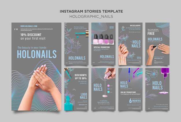 Holograficzne Paznokcie Na Instagramie Premium Psd