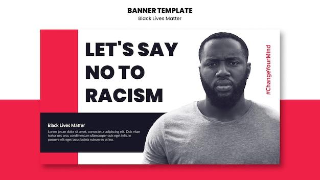 Horyzontalny Sztandar Rasizmu I Przemocy Darmowe Psd