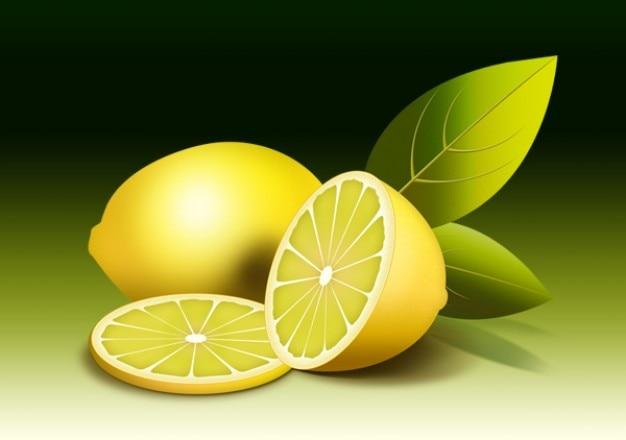 Ilustracja świeżych owoców cytryny psd Darmowe Psd