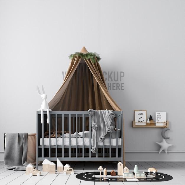 Ilustracja Wnętrza Pokoju Dziecięcego Premium Psd