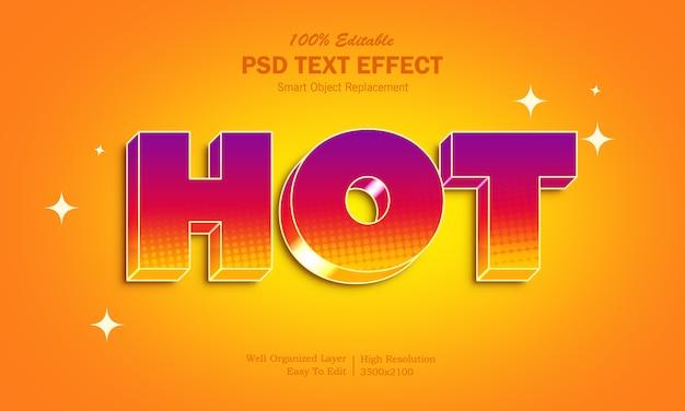 Impreza świętuje Efekt Gorącego Tekstu W Stylu Premium Psd