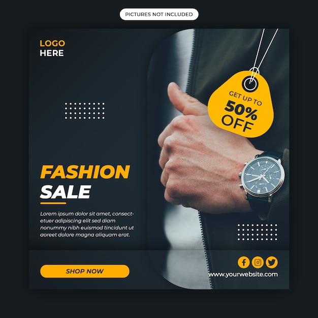 Inteligentny Zegarek Szablon Mediów Społecznościowych Premium Psd