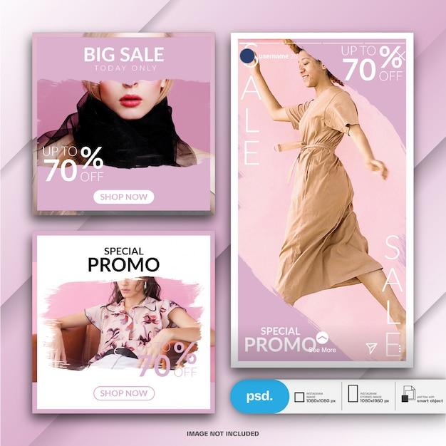 Internetowy Baner Mody Szablon Social Media Premium Psd