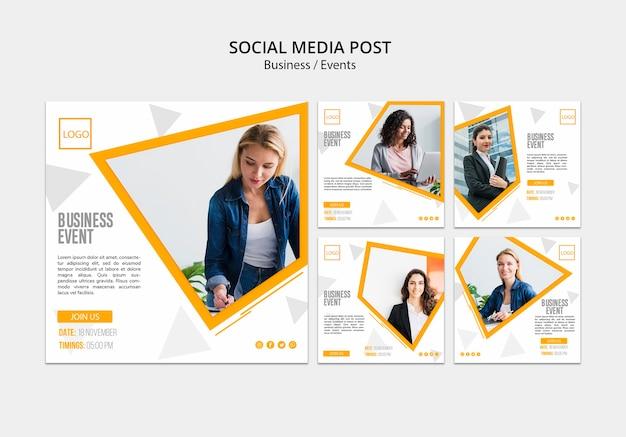Internetowy post biznesowy w mediach społecznościowych Darmowe Psd