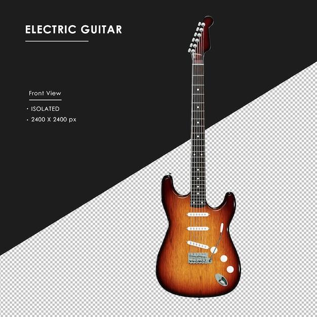 Izolowane Gitara Elektryczna Z Widoku Z Przodu Premium Psd